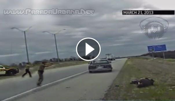 VIDEO IMPACTANTE - Dramatica imagenes de como un hombre le dispara a un Policia en EEUU