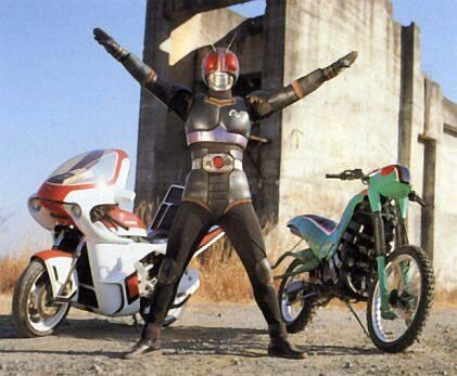 Masked Rider Black's Battlehopper and Roadsector