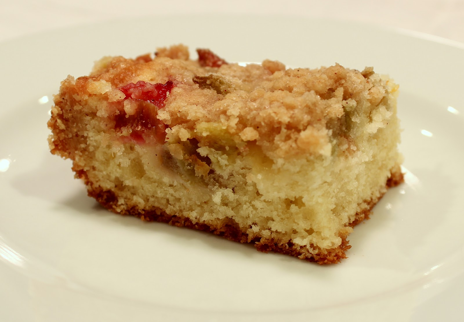 Dinner Delish: Lemon Rhubarb Snack Cake
