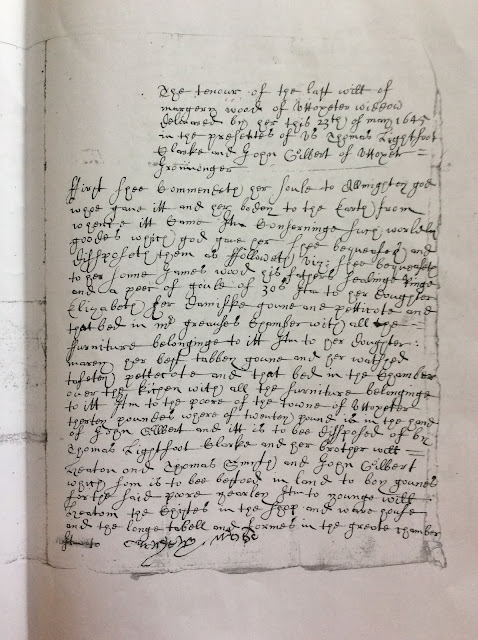 Crowdsourcing - Can Anyone Read this 1645 Will?