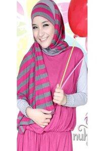 Nuhijab Plain Dress - Shoking Pink (Toko Jilbab dan Busana Muslimah Terbaru)