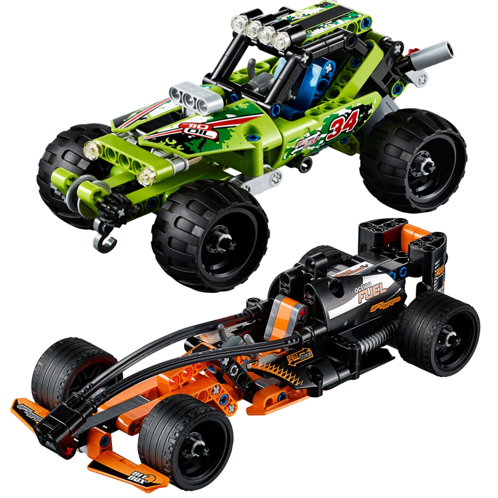 video review lego technic pull back racers the test pit. Black Bedroom Furniture Sets. Home Design Ideas
