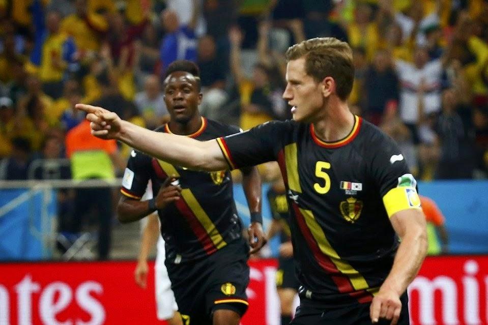"""FÚTBOL Mundial Brasil 2014 -- Bélgica 1-0 Corea del Sur. """"Los diablos rojos primeros de grupo muy apurados"""""""