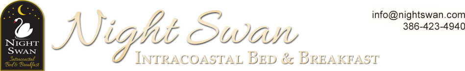 New Smyrna Beach Florida Bed and Breakfast,  Night Swan Intracoastal Bed & Breakfast