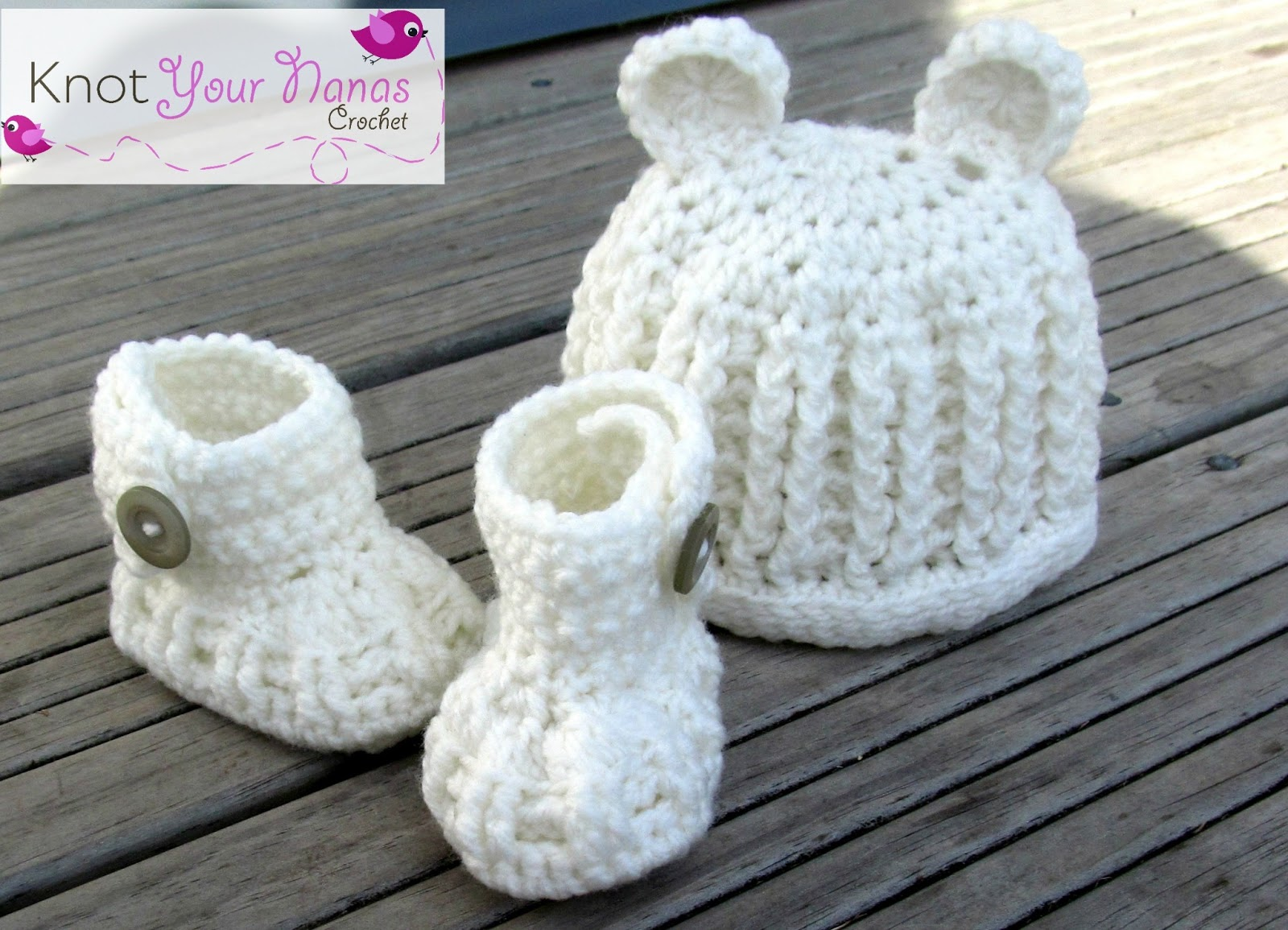 Knot Your Nanas Crochet: Crochet Newborn Booties