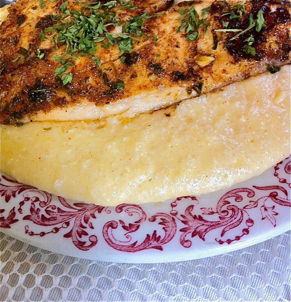 Cajun fish and cheese grits savory divas can cook for Fish and cheese