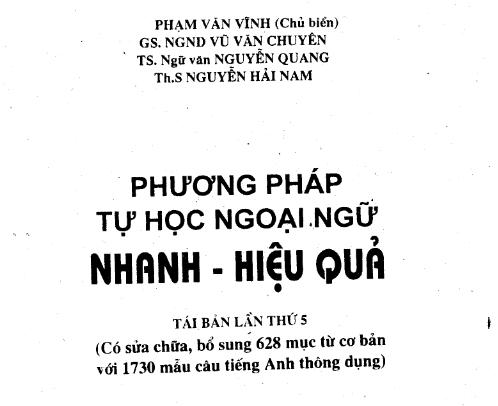 Phương pháp tự học ngoại ngữ
