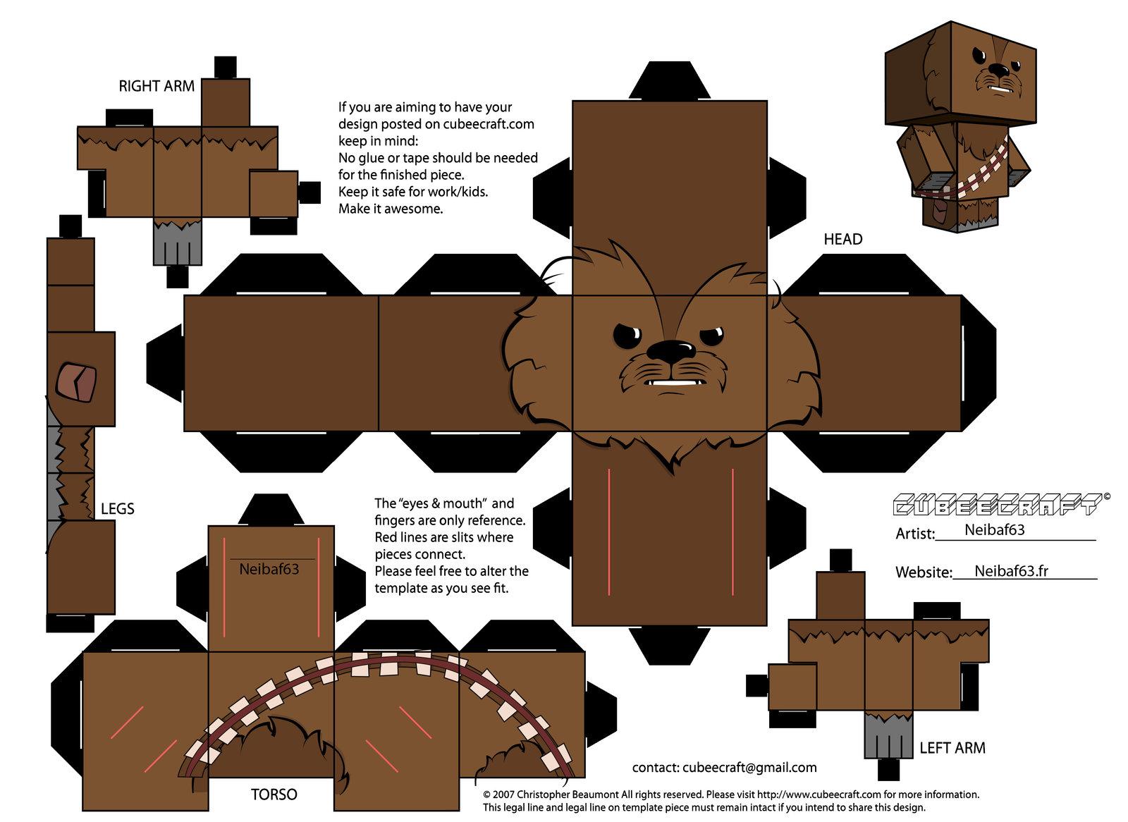Papercraft Chewbacca - Star Wars