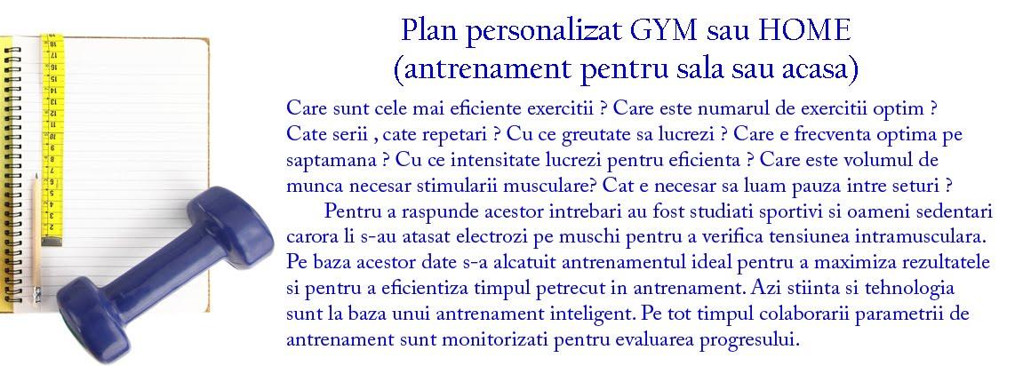 Plan antrenament