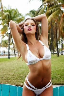 Alyssa Arce hot in sexy bikini swimsuit for galore magazine photoshoot