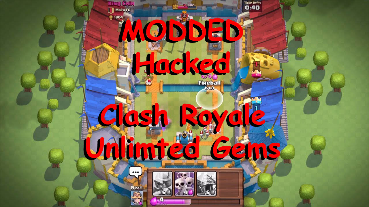 ... .Just download The latest Clash royale mod 1.3.2 apk from below link