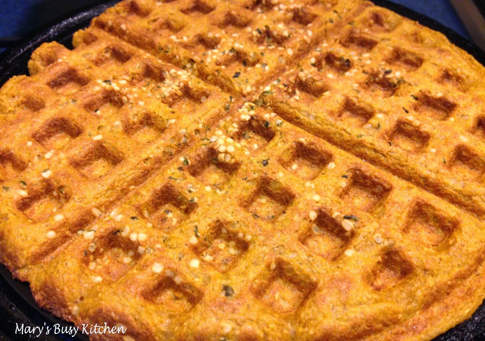 ... : Gluten Free Banana, Pumpkin & Oat Waffles - no added sugar or fat