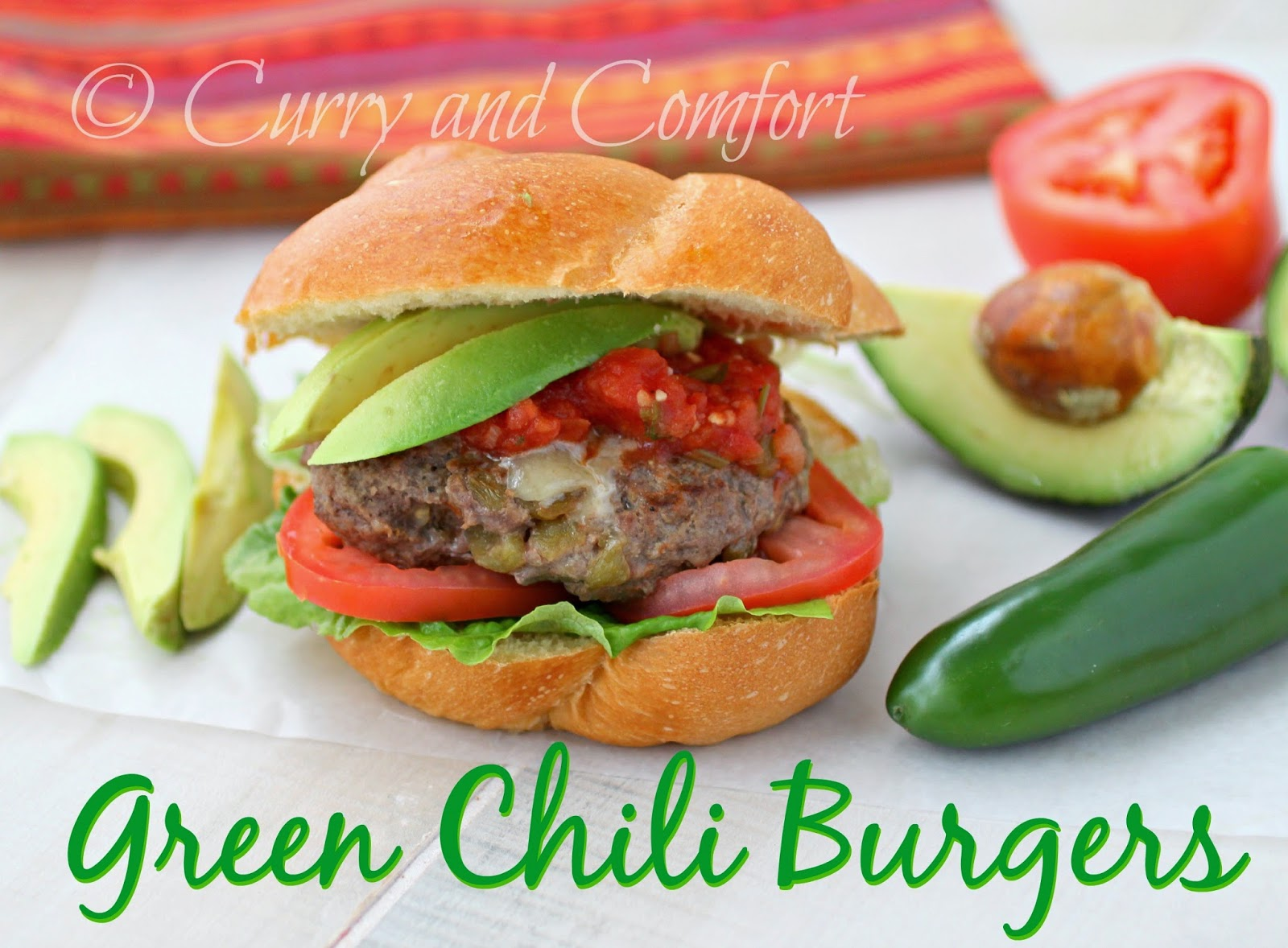 Kitchen Simmer: Green Chili Burger (Burger Week) #burgers