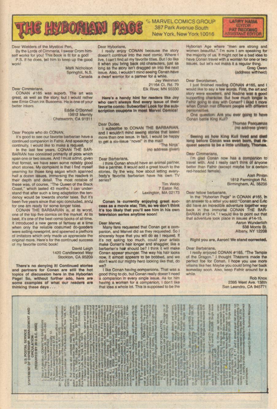Conan the Barbarian (1970) Issue #169 #181 - English 24