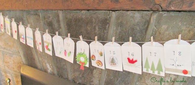 Little envelopes with decorations