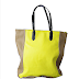 The nuG Yellow Tote Bag And Wedge Heels To Match