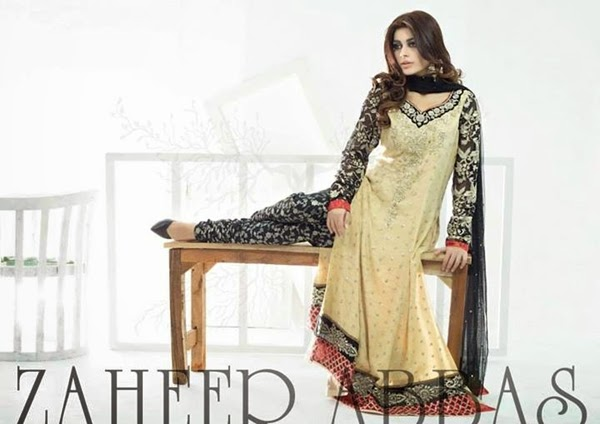 Zaheer Abbas Clothes Eid Designs 2014