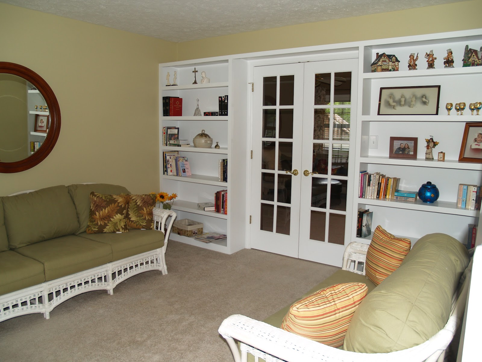 This Is The Den To Left Of Stairs French Doors Open Into Living Room May Be My Favorite In House