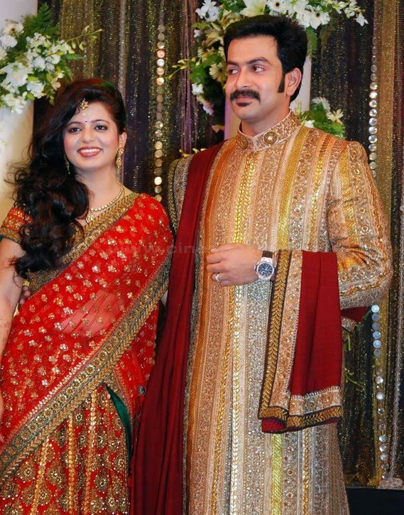 Starsofmoviespot Prithviraj Wedding Reception Photos