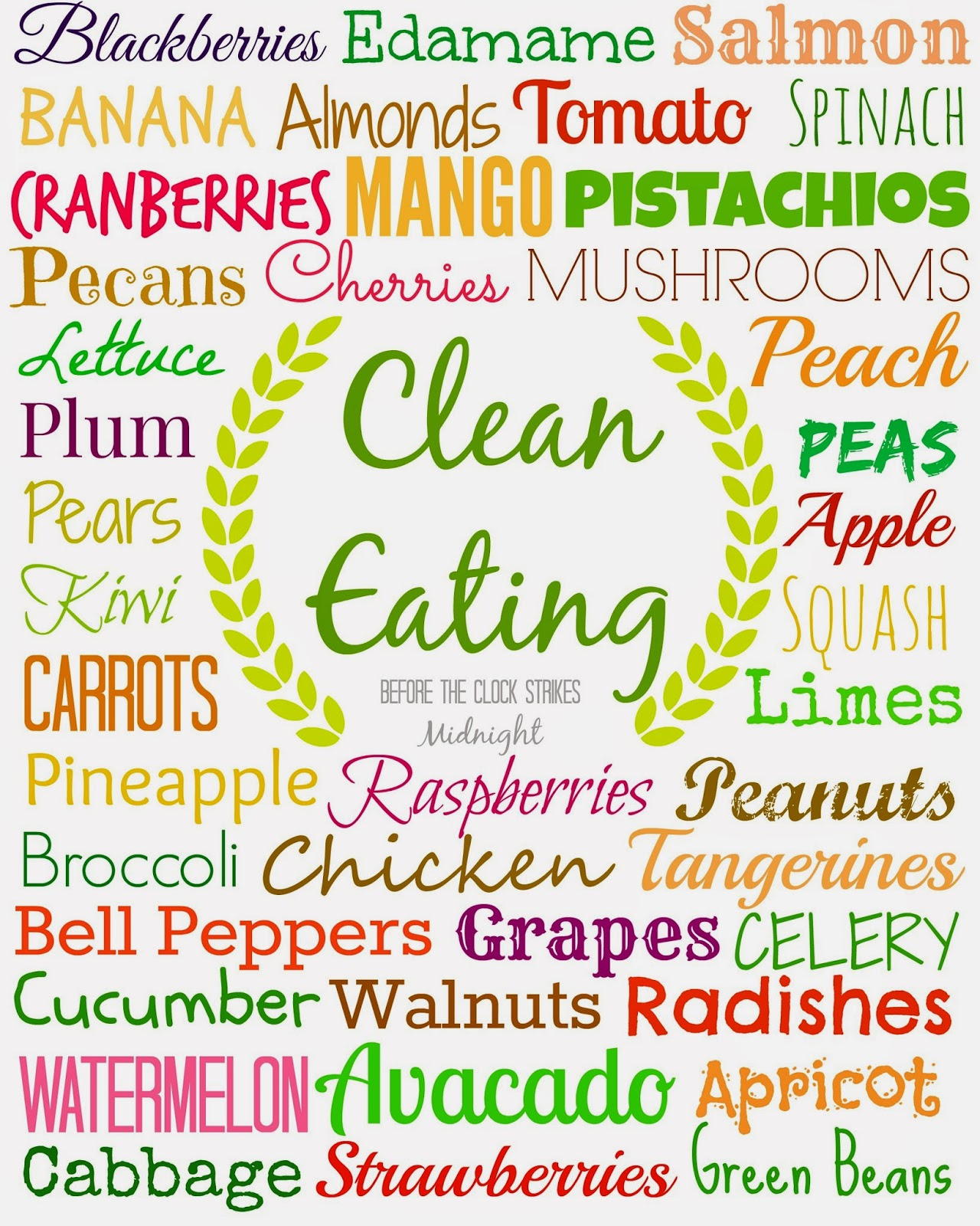 ... the Clock Strikes Midnight: Free Clean Eating Reminder Printable