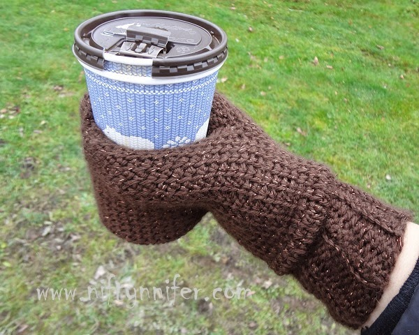 Niftynnifers Crochet Crafts Free Crochet Pattern Beverage Cozy Mitt