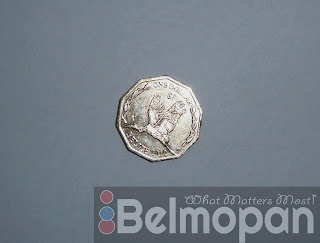 Front section of the belize new 2012 dollar coin