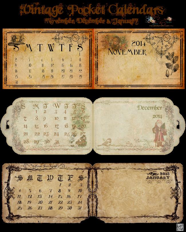 This is an image of Dashing Printable Pocket Calendars