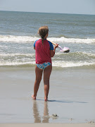 Freckle face beach girl