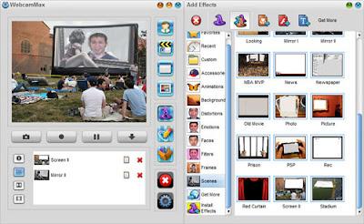 WebcamMax Scene Effect