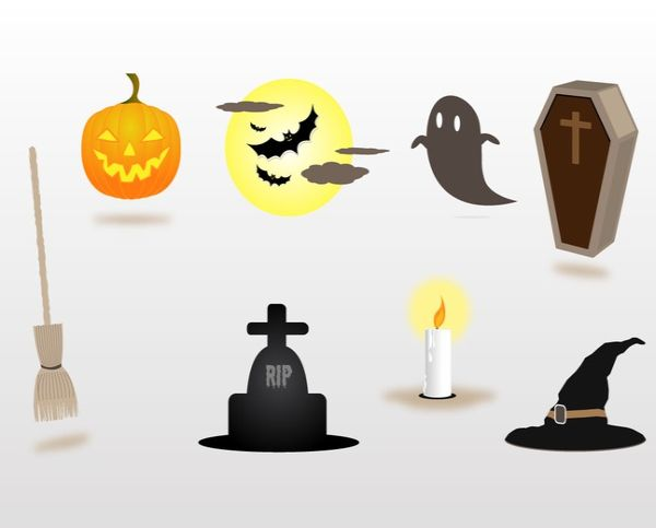 Free Halloween Decorations Vectors Art