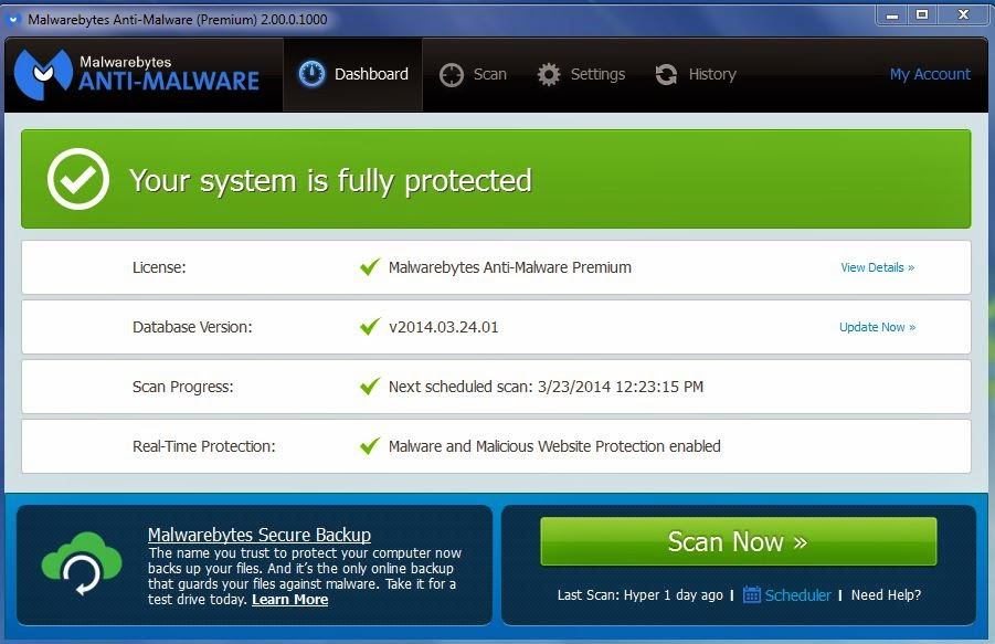 Malwarebytes Anti-Malware Version 2.0