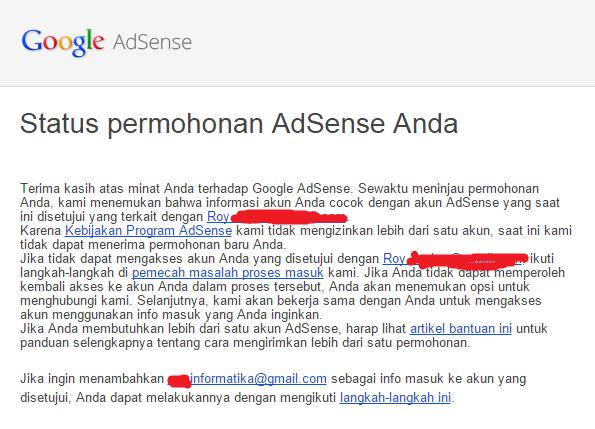 Cara Mendaftarkan Akun Google Adsense Lebih Dari Satu