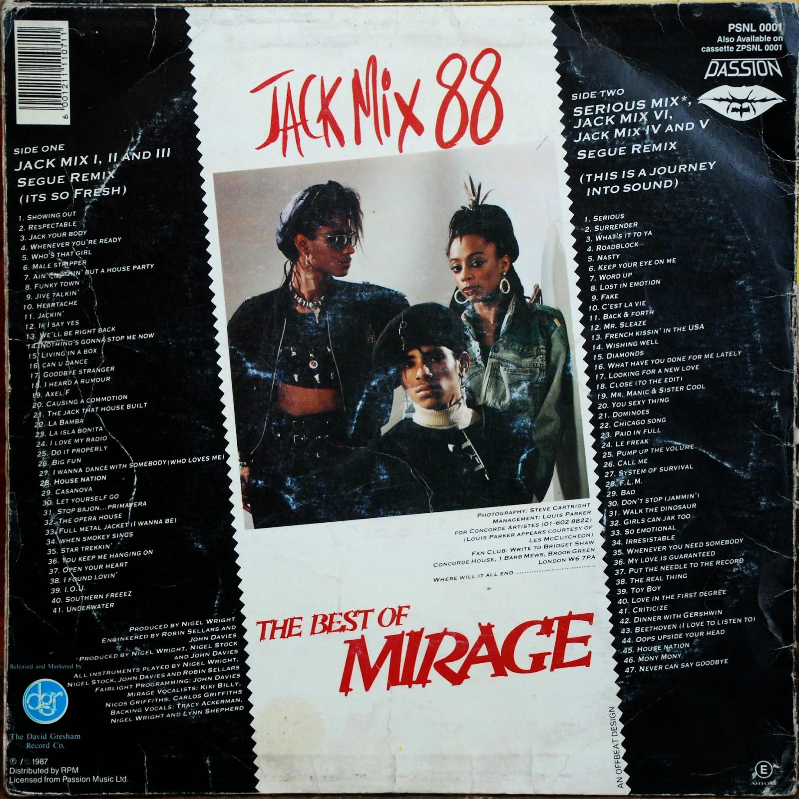 Retro disco hi nrg jack mix 88 lp non stop mix 1988 88 for House hits 88