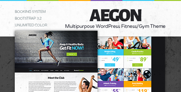 Responsive Gym WordPress Template