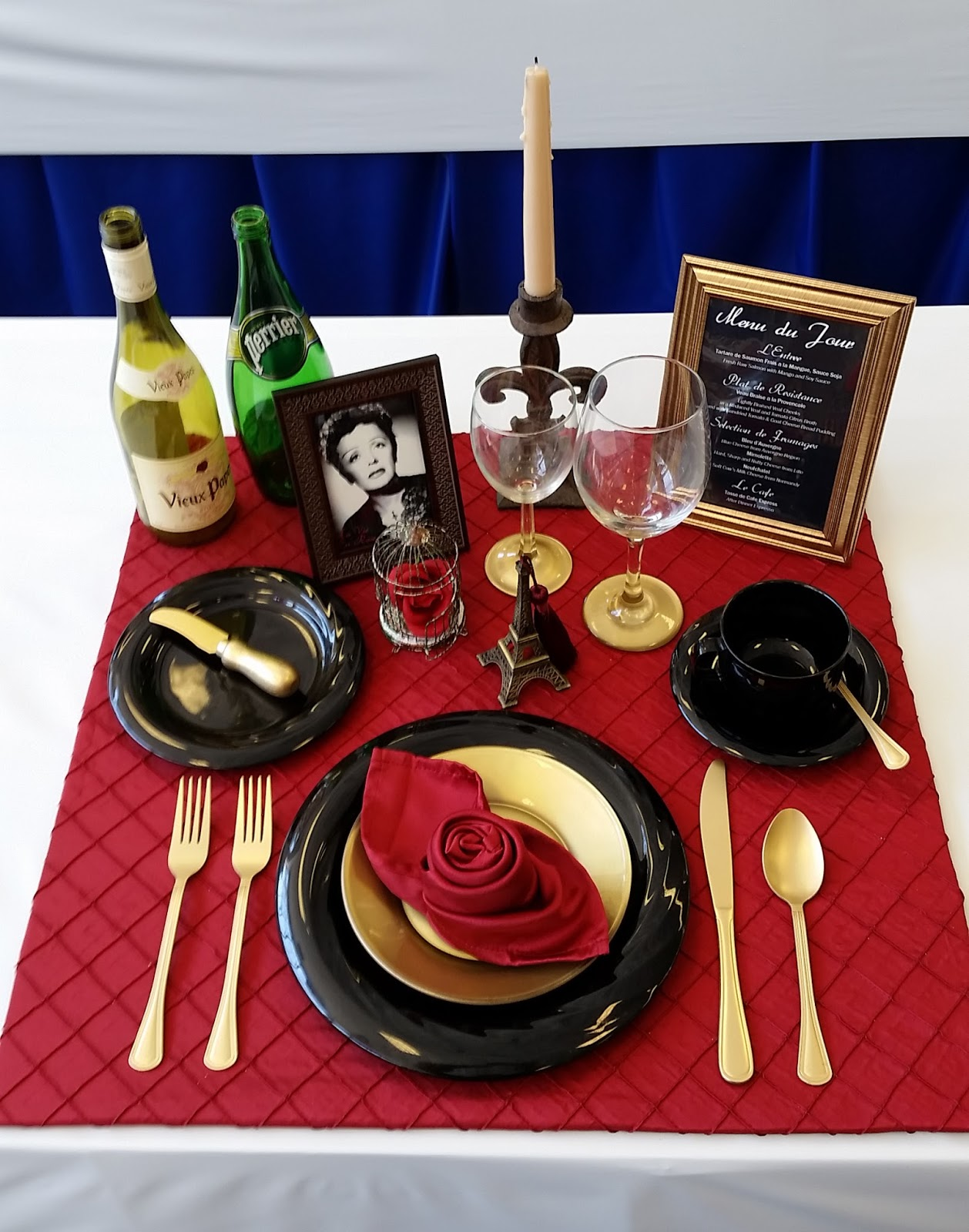 Table Setting theme La Vie En Rose French movie about Edith Piaf & VAGABOND | ZEN: Table Settings Alameda County Fair