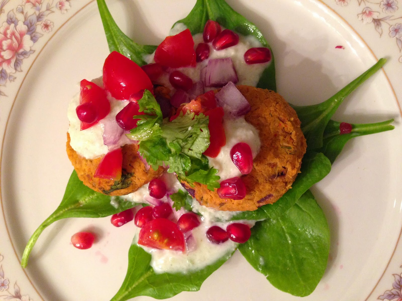 Chickpea Patties with Cucumber Coconut Chutney