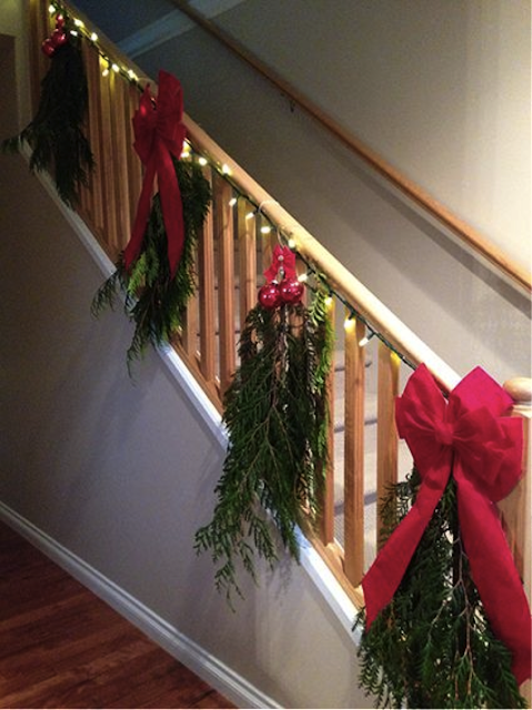 christmas staircase design
