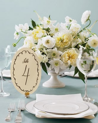 The Autumn Wedding: Table and Name Place Card Ideas