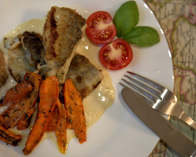 навага с печеной морковью рецепт