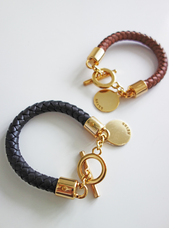 Reiss Frith woven leather bracelet international giveaway