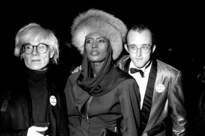 grace jones com andy warhol e keith haring