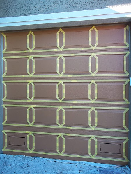 Painting both garage doors complete everything i create for Paint garage door to look like wood