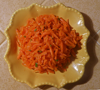 Plate of Carrot Sambal