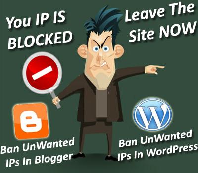 Memblockir pengunjung situs kita