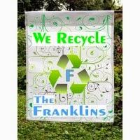 We recycle custom garden flag