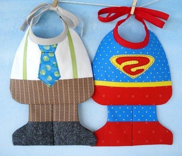 детский нагрудник-слюнявчик. Baby bibs DIY
