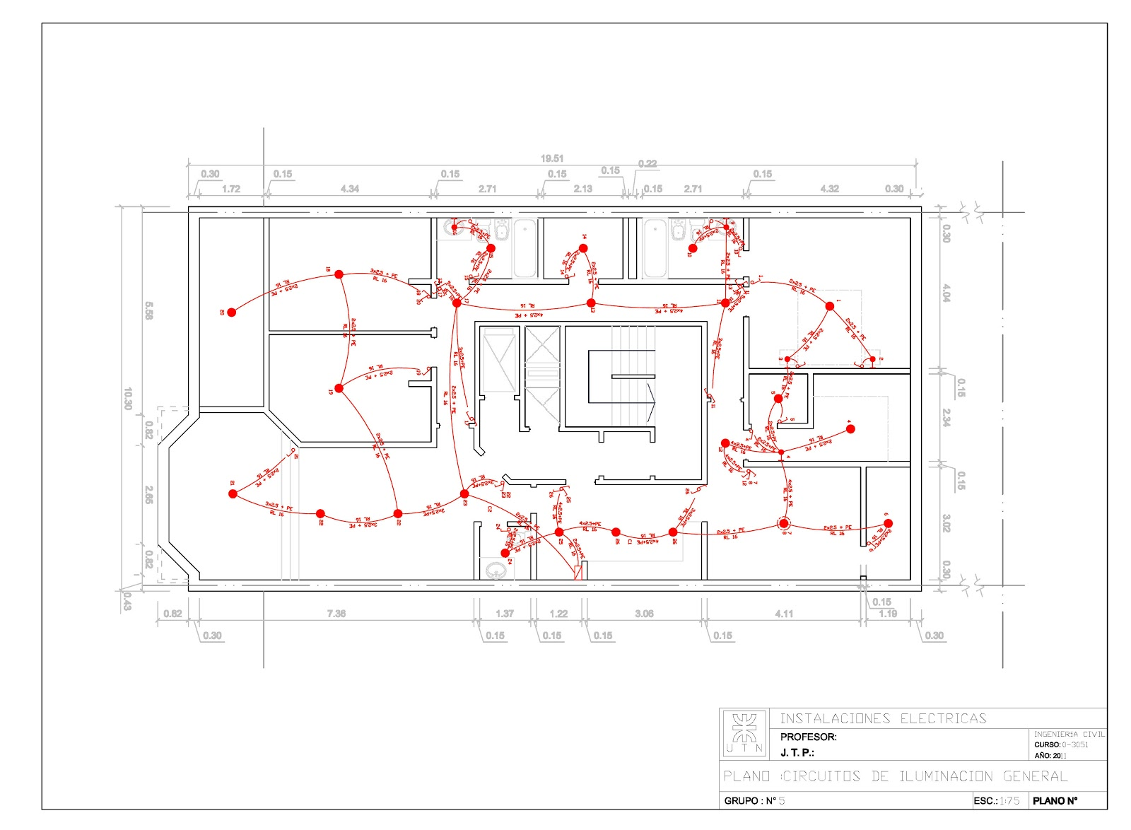 detalles constructivos cad planos de instalaci n el ctrica ForPlano Instalacion Electrica