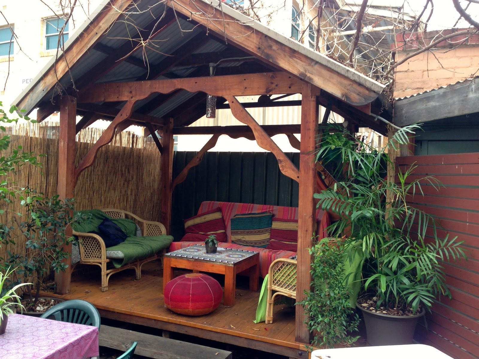 Outdoor garden and hut  - Bliss Organic Cafe, Adelaide