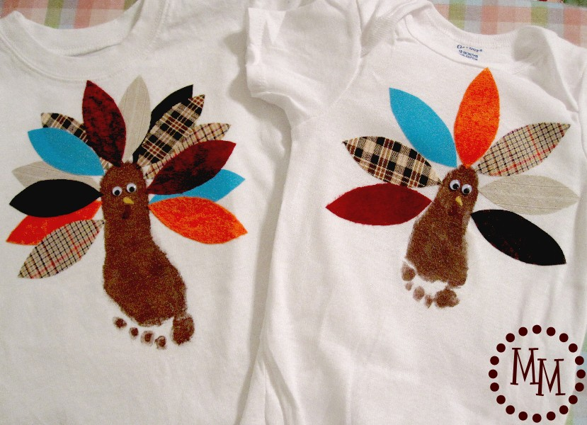 Footprint Turkey Shirts The Scrap Shoppe