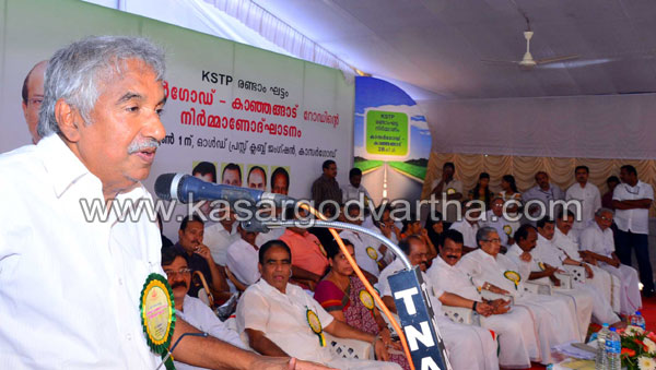 Kasaragod- Kanhangad State road inaugurated, Kerala, KSDP, Road Project, Oommen Chandy